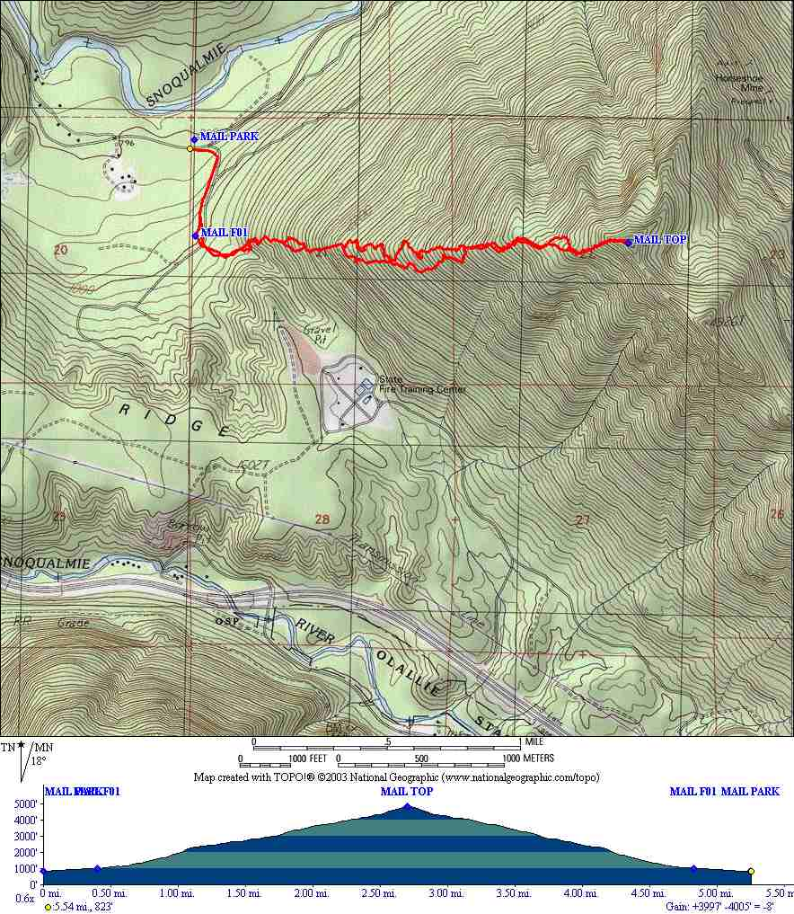 Mailbox Peak (new route) TNAB Hike and GPS map, waypoints ... on